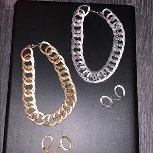 Jewelry sets (necklace and earrings)